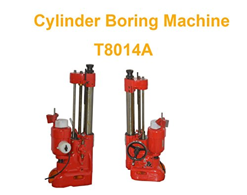 TECHTONGDA T8014A Vertical Cylinder Boring Line Machine for Motorcycle Engine Automobile repair equipment Red 110V 250W ()