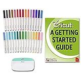 Cricut Ultimate Bundle - 30 Pack Fine Point Pen Set, XL Scraper, Beginner Guide