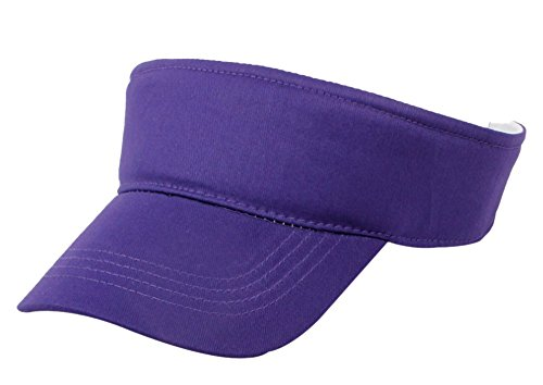 Eforstore Kids Children Deluxe Cotton Visor Topless Sun Hat Summer Outdoor Baseball Golf Caps (Purple)