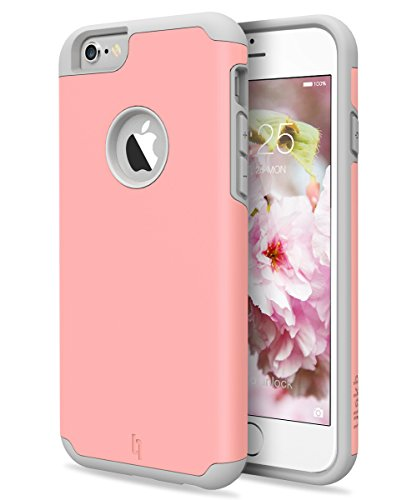 iPhone 6s Plus Case, ULAK Hybrid Dual Layer Protective Sugar Candy Case for Apple iPhone 6s Plus 5.5 inch Device (Pink+Grey)