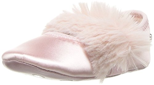 UGG Girls' I Fluff Ballet Flat, Baby Pink, 0/1 M US Infant -