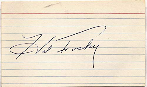 3 x 5 Trosky, Hal (lined) 9.5