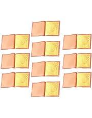 EXCEART 10St Bladgoud Vellen Eetbare 24K Puur Goud Folie Huidverzorging Make-Up Ambachten Folie Papier Voor Kunst Vergulden Cake Bakken Voedsel Decoratie