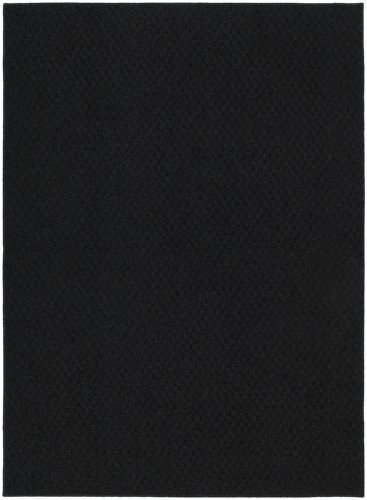 Garland Rug Town Square Area Rug, 5-Feet by 7-Feet, Black (College Rugs)