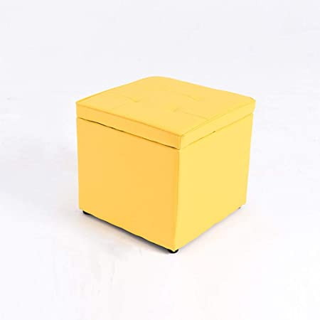 Fabulous Leather Storage Ottoman With Hinged Lid Cube Shaped Spiritservingveterans Wood Chair Design Ideas Spiritservingveteransorg