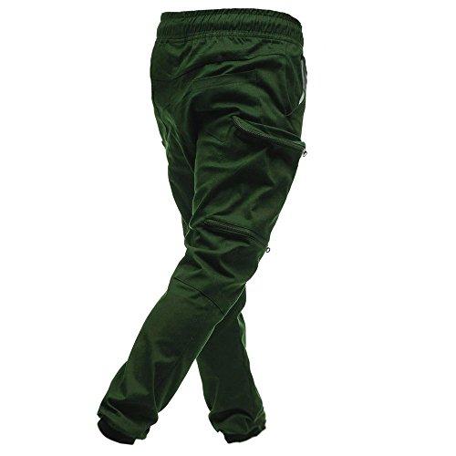 Sudore Classic Green Coulisse Tasche Joggers Pants,men Sport Pantaloni,classics Army Modaworld Jogging Cerniera 's Pantaloni Uomo xUw4qnY67