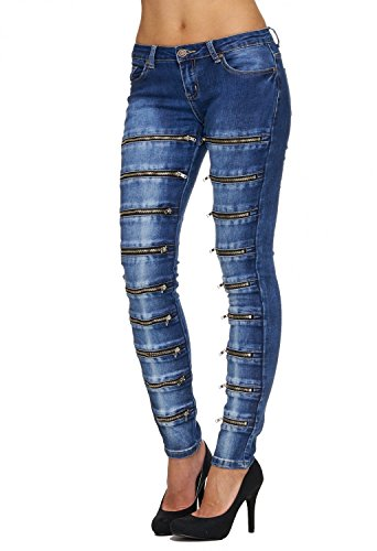 D1764 Jeans Denim Delle Hosen Donne Blu Pantaloni Arizonashopping 1qwaxYq