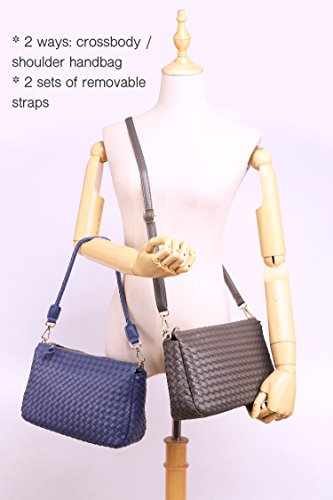 Women Small Bags Bags For Shoulder of Straps Sets Black Purses Leather PU 2 Jeelow Crossbody Clutch Purse Side d87qwdE