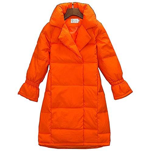 De Manches 95 Princesse Jacket Long Loozo Lâche Duck D'hiver Orange Revers Mode Down Les Femmes wz4qtgB