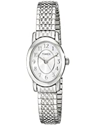 Timex Womens TW2P60100 Cavatina Silver-Tone Stainless Steel Expansion Band Watch