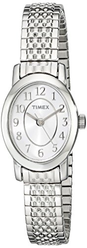 Timex Women's TW2P60100 Cavatina Silver-Tone Stainless Steel Expansion Band Watch ()
