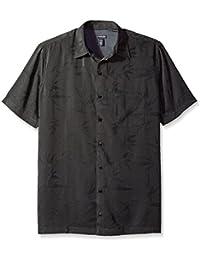 Men's Big and Tall Jacquard Short Sleeve Shirt