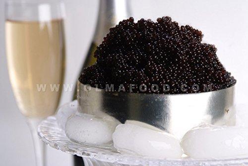 OLMA Black Caviar Russian Osetra KARAT 32 oz (907g) Metal Tin.
