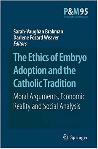 The Ethics Of Embryo Adoption And The Catholic Tradition Moral Arguments Economic Reality And Social Analysis Philosophy And Medicine Book 95 Kindle Edition By Brakman Brakman Sarah Vaughan Fozard Weaver Darlene Politics