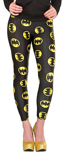 Rubie's Women's DC Comics Batgirl Leggings, Black, One -