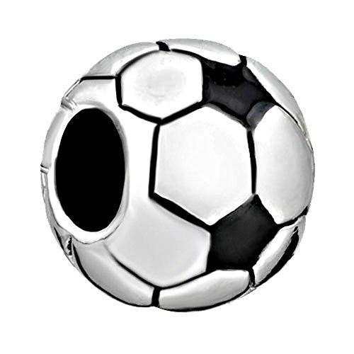 CharmSStory Soccer Ball Football Charms Classic World Cup Beads Charm for Bracelets (Soccer Ball) ()