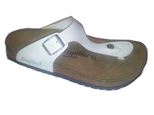 Papillio Größe weiß Sandale 42 1002698 Weite Gr BF normal Gizeh 35 36 Zehensteg CwOnC4qAx