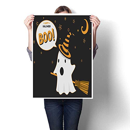 homehot Canvas Wall Art Halloween Ghost Witch Decorative Fine Art Canvas Print Poster K 20