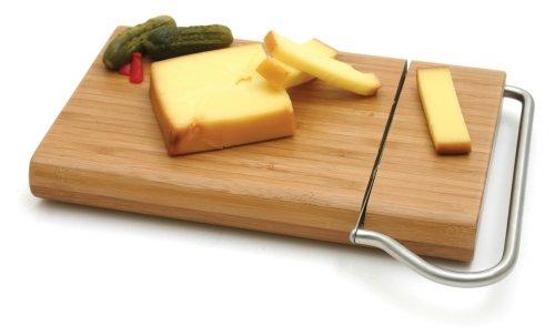 Swissmar Bamboo Board w/Cheese Slicer - Swissmar Knife Cheese