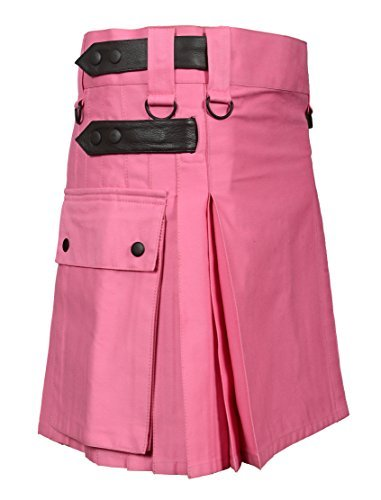 Scottish Pink Utility Kilt For Women (Belly Button Size 44)