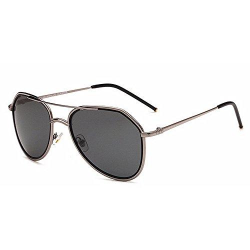fuerza libre de la de Marco la lente Gafas HD ultraligero hombres de Gafas aérea 400 de polarizadas UV Unisex para Deporte vendimia sol aire la de La al Plata Yxsd protección la retro los metálico de 46FUqZww