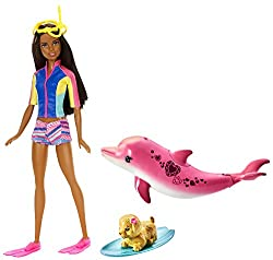 Barbie Dolphin Magic Snorkel Doll