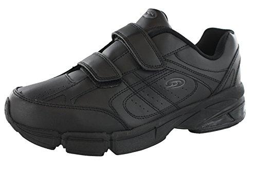 Cross Trekkers - Dr.Scholls Men's Omega Light Weight Dual Strap Sneaker Wide Width (12 2E US, Black)