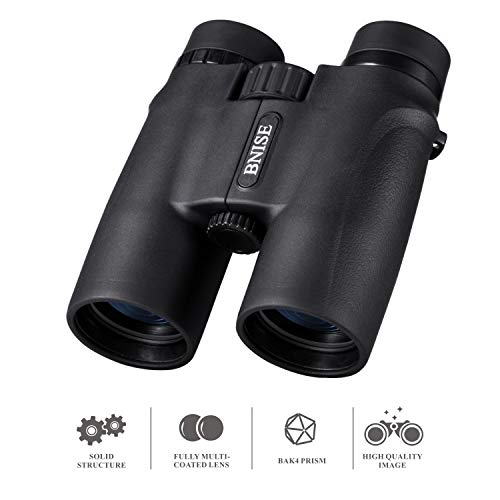 10X42 Binoculars for Adults, Compact Professional Binoculars with Bright and Clear Range of View for Bird Watching, for Hunting, for Stargazing, Comes with Case, Strap and Warranty