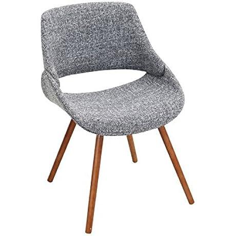 WOYBR CH FBCO WL GY2 Wood Polyester Fabric Foam Fabrico Chair Set Of 2