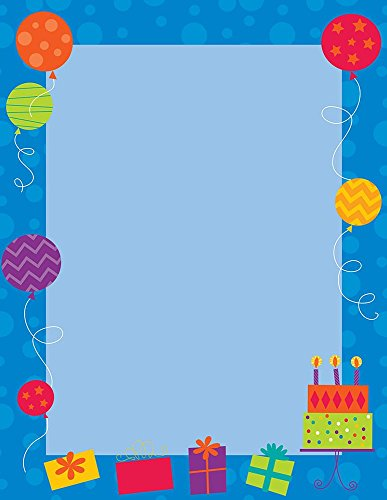 Great Papers! Birthday Party Letterhead, 80 Count, 8.5