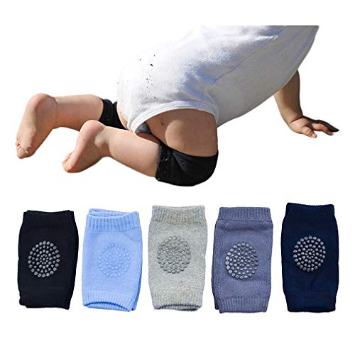 Baby Crawling Anti Slip Knee Pads Unisex Clothing Accessories Toddler Leg Warmer Safety Protective Cover Toddlers Learn to Socks Children Short Kneepads 5 Pairs -