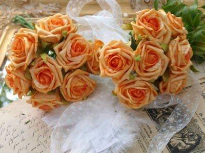 Decorazioni Matrimonio Arancione : Roselline arancione matrimonio tavolo decorazione comunione