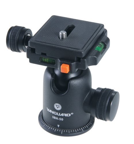Vanguard SBH-50 Compact Magnesium Alloy Ballhead with Two Onboard Bubble Levels