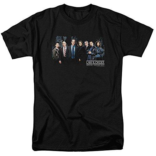 Trevco Men's Law & Order: SVU Short Sleeve T-Shirt, Cast Black, Large