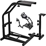 Vevor Racing Simulator Cockpit Height Adjustable Racing Wheel Stand with Logitech G25, G27, G29, G920 Next Level Racing Wheel and Pedals Not Included. (G29/G920/G27/G25)