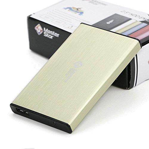 MasterStor)-Externe harde schijf USB 3.0 Super-snelle 2,5-inch SATA laptop harde schijf Portable Hard Drive Geel (80 GB…