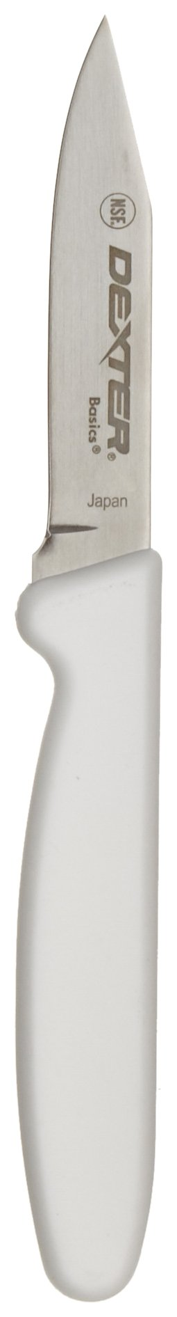Dexter Russell P94816 3'' Basics Clip Point Paring Knife-White