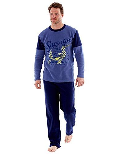 Bleu Détente Warm De Pour Harvey Vêtements Thermiques Pyjama Ensembles Polaire Hommes James fzXqgnPw