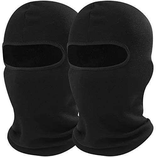 - AXBXCX 2 Pack - Thick Polyester Fleece Thermal Balaclava Face Mask Windproof Keep Warmer Cover Protection for Snowboard Ski Cycling Motorcycle Hunting Driving Cold Weather Winter Activities Black