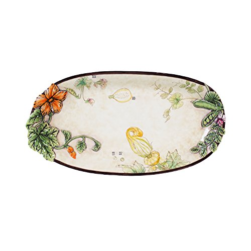 Fitz and Floyd Fattoria Oval Platters, Tan