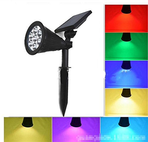 L&T STAR Solar Lawn Light Cairn 7LED Color Can Be Color Outdoor Landscape Spotlights Garden Courtyard Wall Lamp