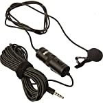 Boya BYM1 Omnidirectional Lavalier Condenser Microphone with 20ft Audio Cable (Black) 3