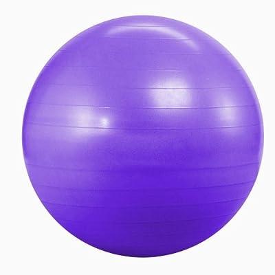Kabalo Violet 65cm ANTI BURST GYM exercice Yoga SWISS ballon de fitness pour femmes enceintes accouchement, etc. (y compris pompe) (Purple 65cm ANTI BURST GYM EXERCISE SWISS YOGA FITNESS BALL for PREGNANCY BIRTHING, etc (incl