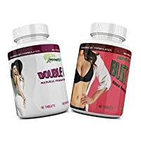 Bust Raise and Double Curves Combo - Natural Female Breast Enlargement Pills, Coupled...