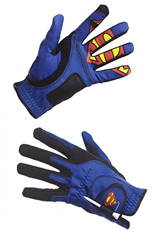 Creative Covers for Golf Malesuperman Golf Glove - men's O/S, Royal Blue/black/Red, One Size