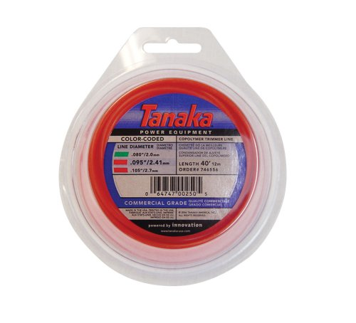 Tanaka 746556 Color-Coded 095-Inch-by-40-Foot Round String Trimmer Line ()