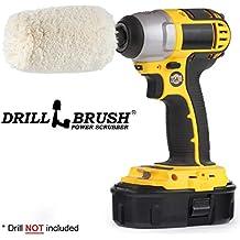 Drill Brush - Soft - Cotton - Cone - Buffer Polisher - Car Buffer - Buffing Wheel - Polisher - Metal - Chrome - Stainless Steel - Aluminum - Titanium - Glass - Wood - Buffer - Wheels - Rims - Engine