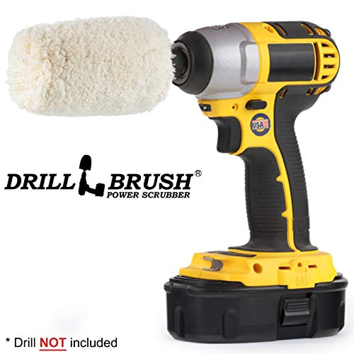(Drill Brush - Soft - Cotton - Cone - Buffer Polisher - Car Buffer - Buffing Wheel - Polisher - Metal - Chrome - Stainless Steel - Aluminum - Titanium - Glass - Wood - Buffer - Wheels - Rims - Engine)