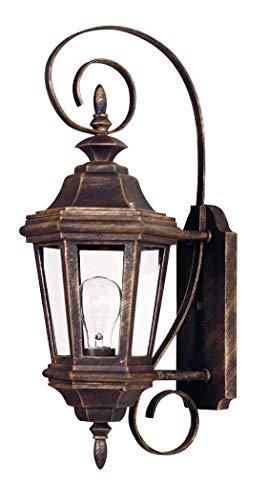 Kenroy Home 16312AP Estate 1-Light Small Wall Lantern, Antique Patina