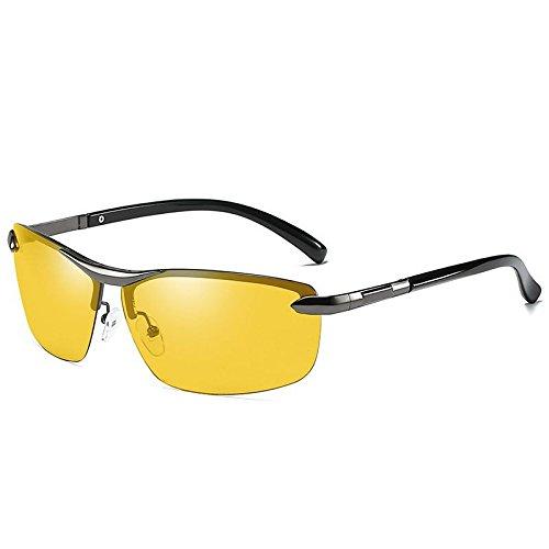 vision Sol Decoloración LANZHI film Gafas Película Té Hombres Gafas Marco Color polarizadas Chic Marco deslumbramiento Playa de Night Moda Medio Anti Sol Colorido Queue Deportes de de Té qFxvnr0q